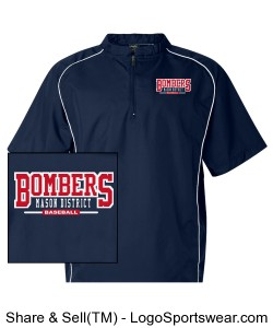 Rawlings Short Sleeve 1/4 Zip Pullover Design Zoom